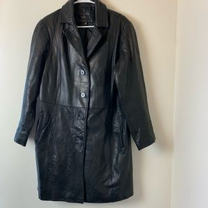 Woman's leather coat